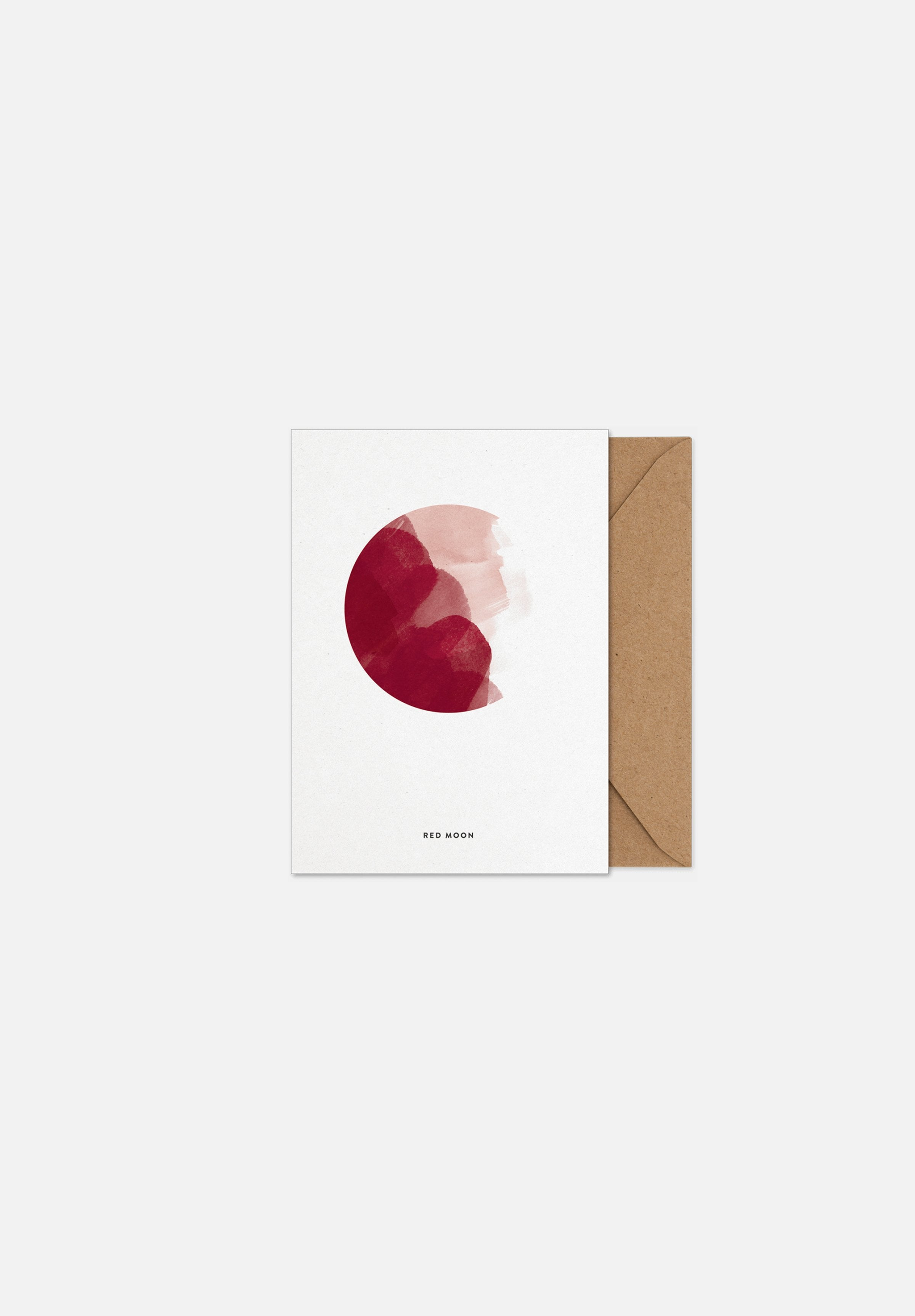 Red Moon — Greeting Card-Paper Collective-A5-Average