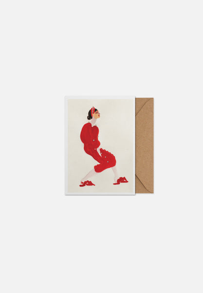 Red With Pearls — Greeting Card-Paper Collective-A5-Average
