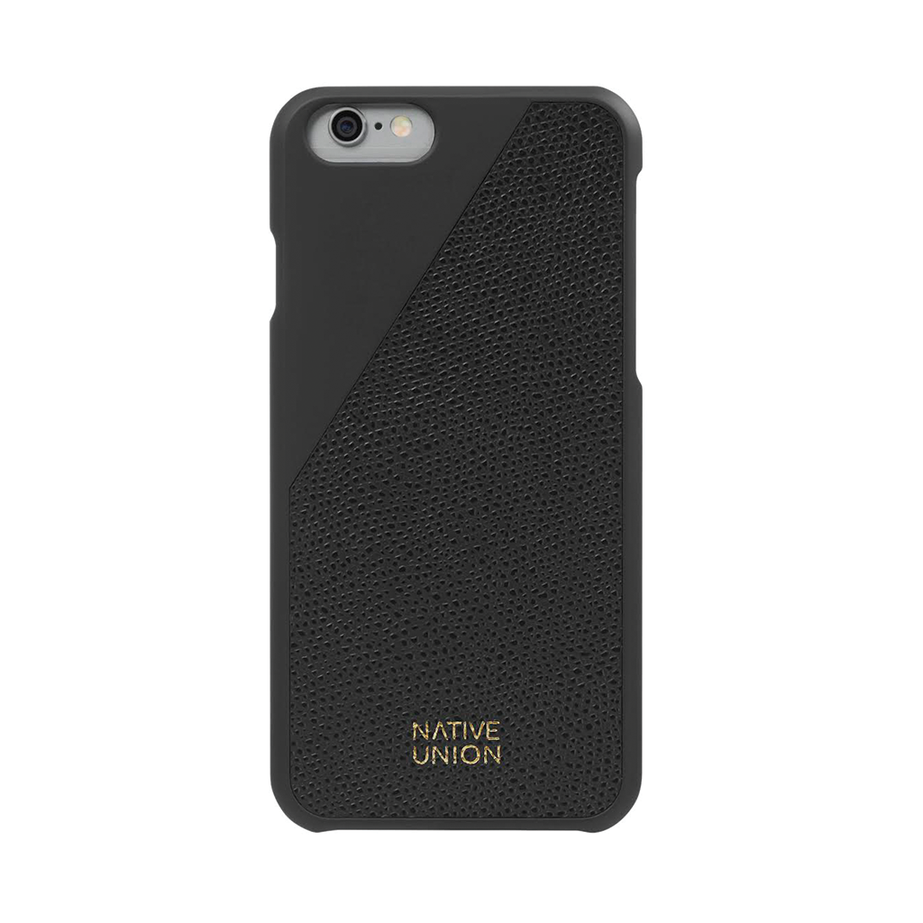 Black Leather CLIC Case iPhone 6 6s by Native Union from www.average.is Toronto Canada