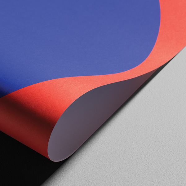 Blue & Red Macrography Poster