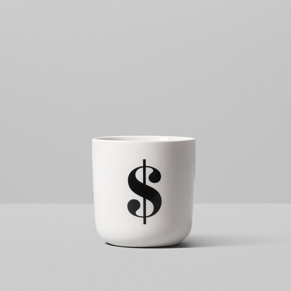 Number and Glyph collection mugs by Playtype from www.average.is Toronto Canada