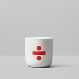 Red Glyph collection mugs by Playtype from www.average.is Toronto Canada