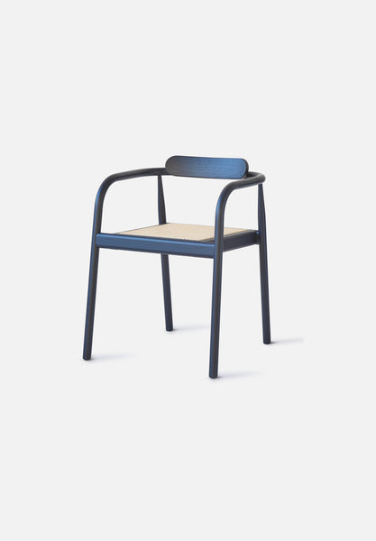 AHM Chair — Cane Seat-Isabel Ahm-Please Wait to be Seated-navy_blue-Average