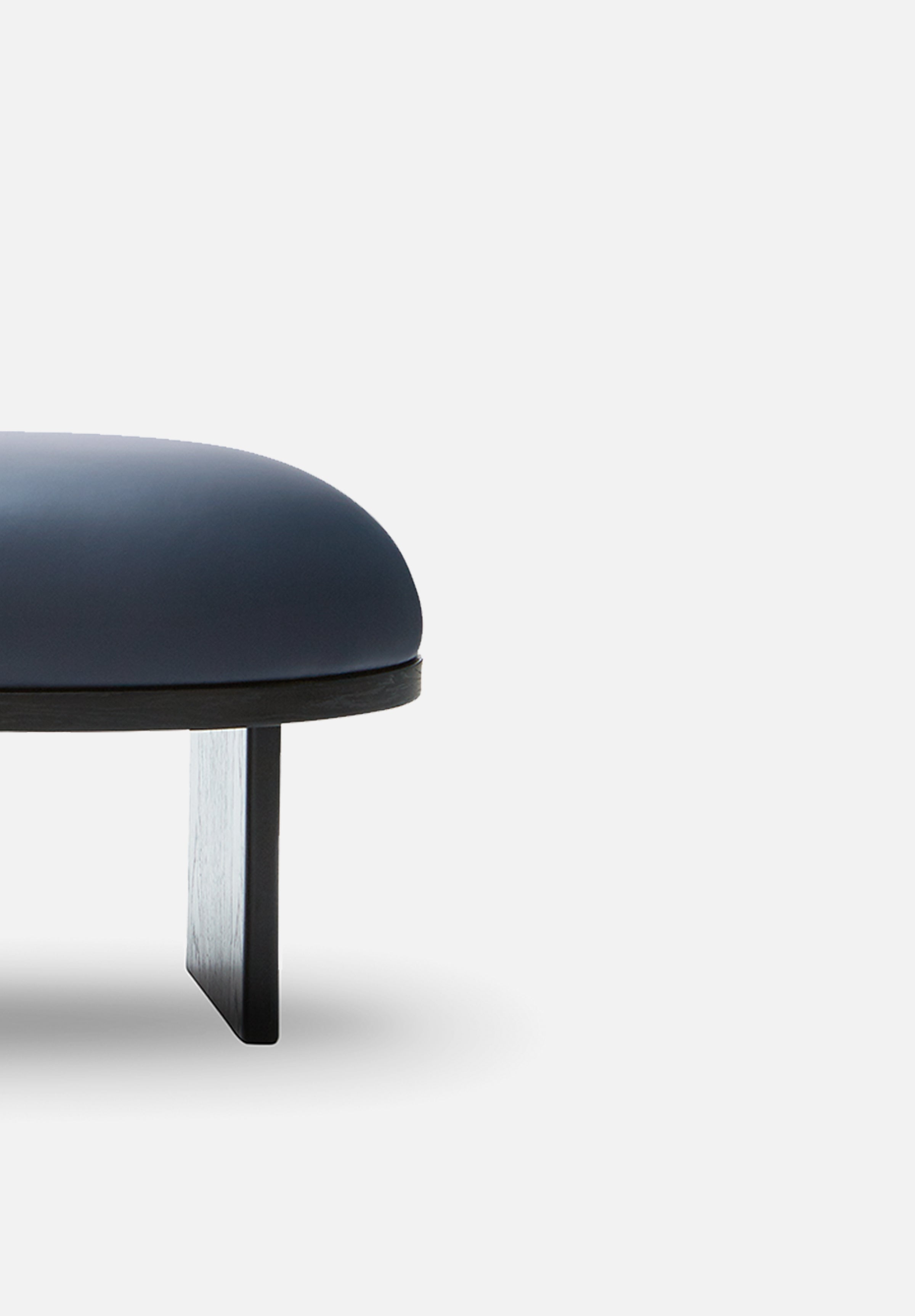 Anza — Pouf-Please Wait to be Seated-Black Stained Oak-Average