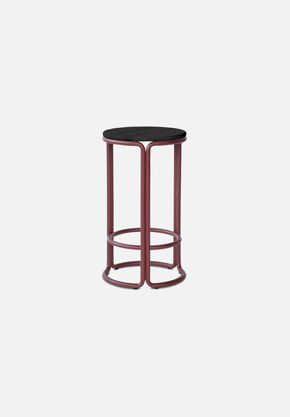 Hardie Bar/Counter Stool — Basque Red / Black Ash