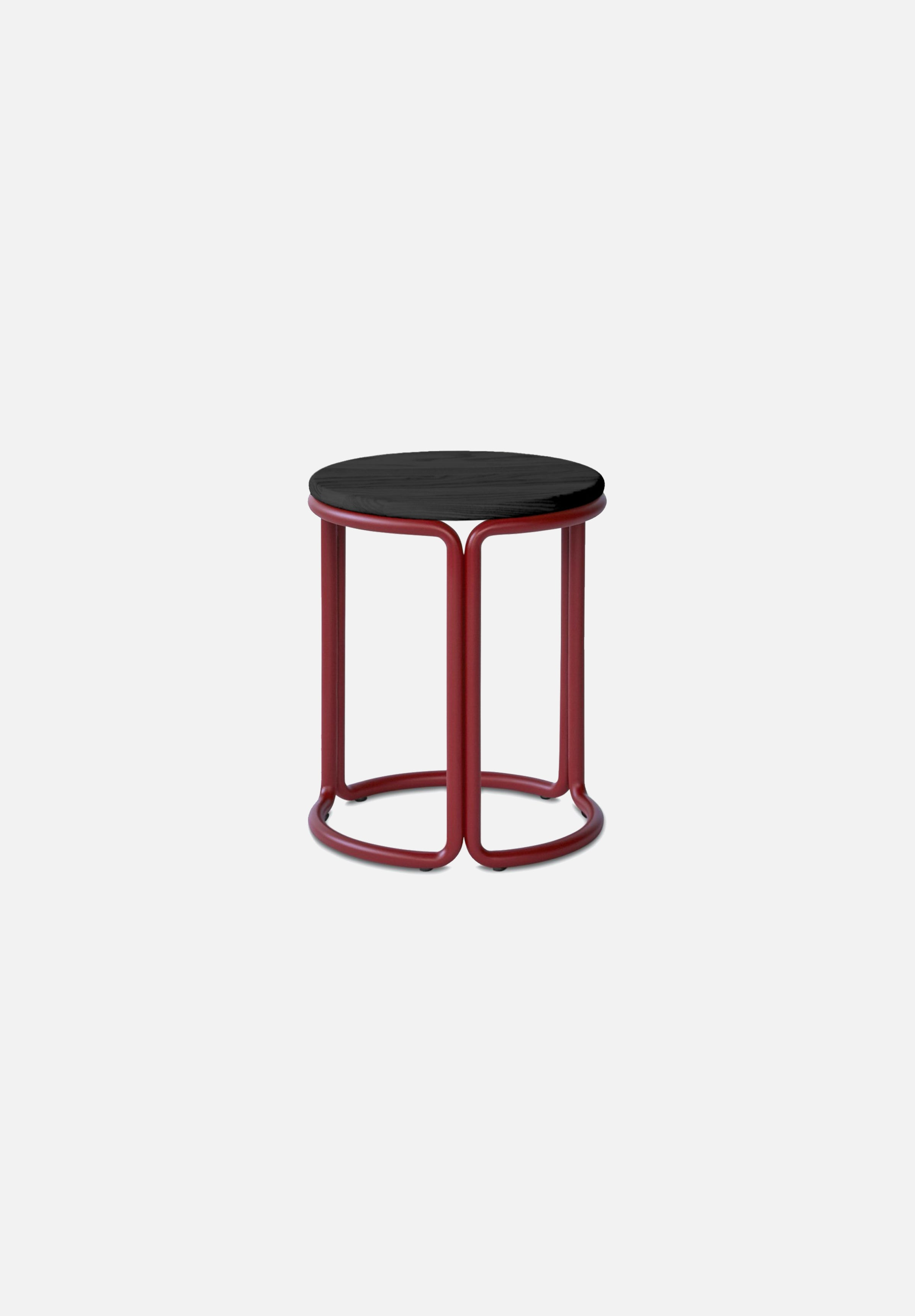 Hardie Stool — Basque Red / Black Ash