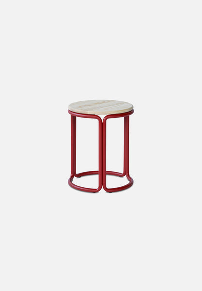 Hardie Stool — Basque Red / Natural Ash