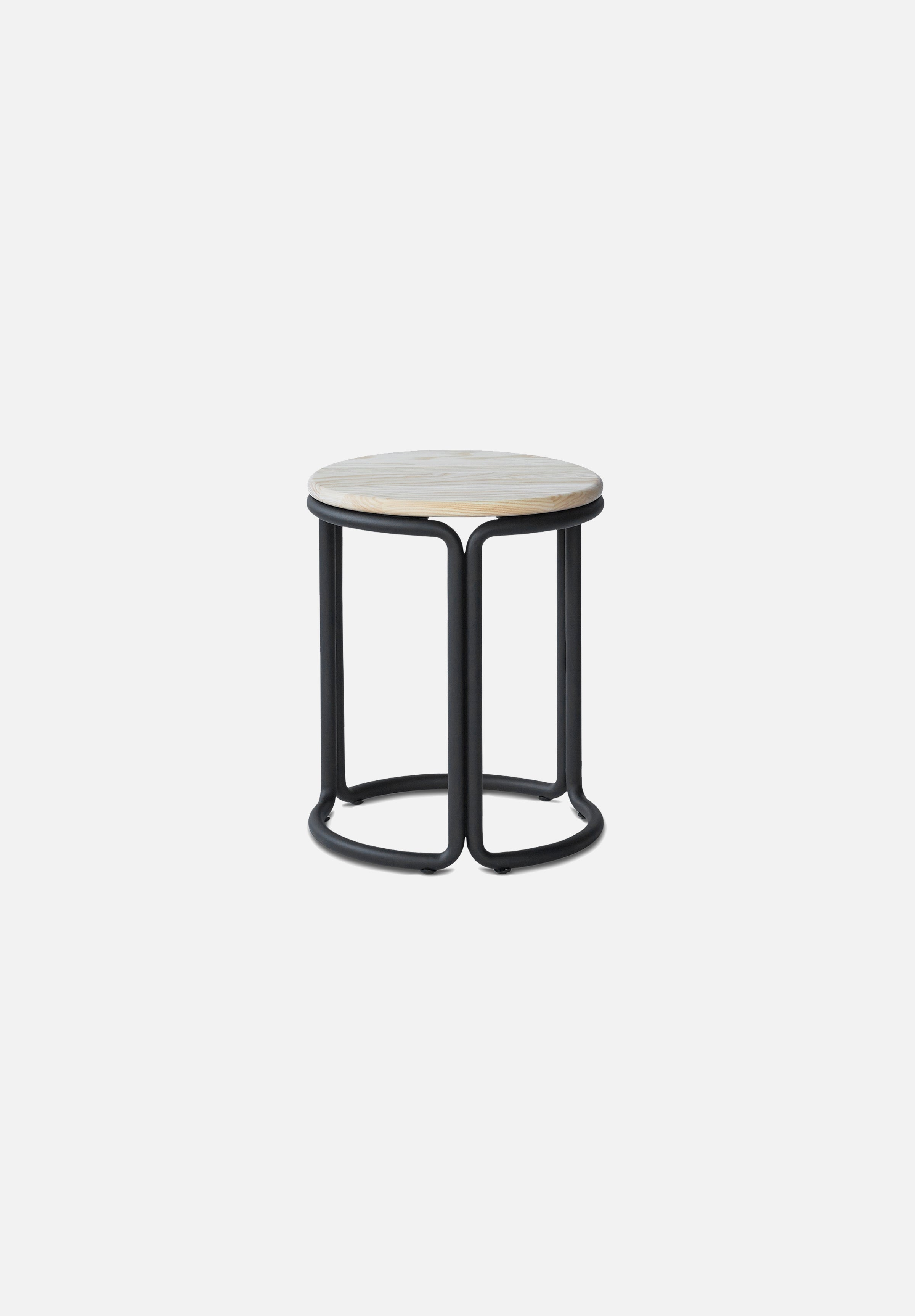 Hardie Stool — Black / Natural Ash