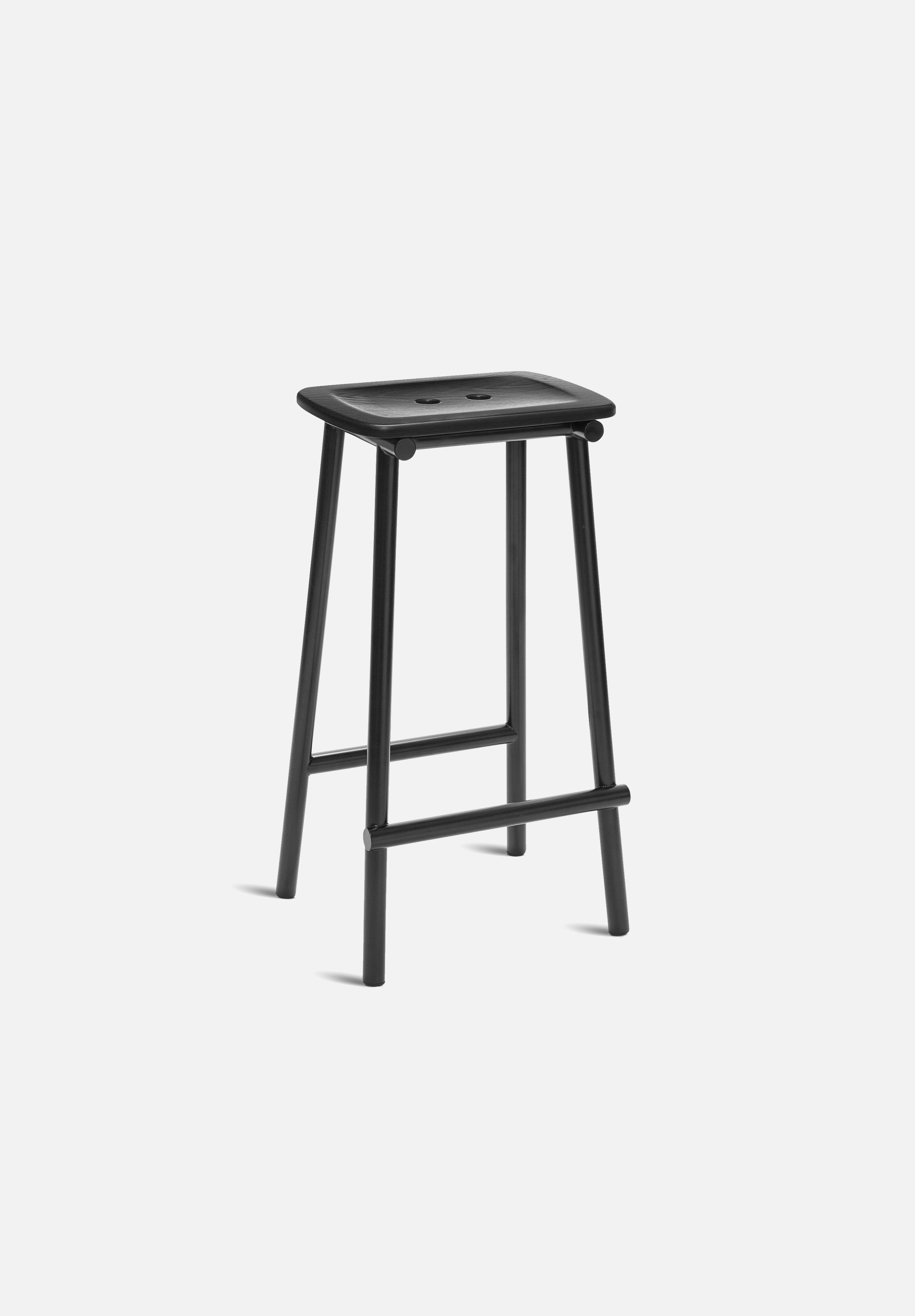 Tubby Tube Bar/Counter Stool — Black Ash