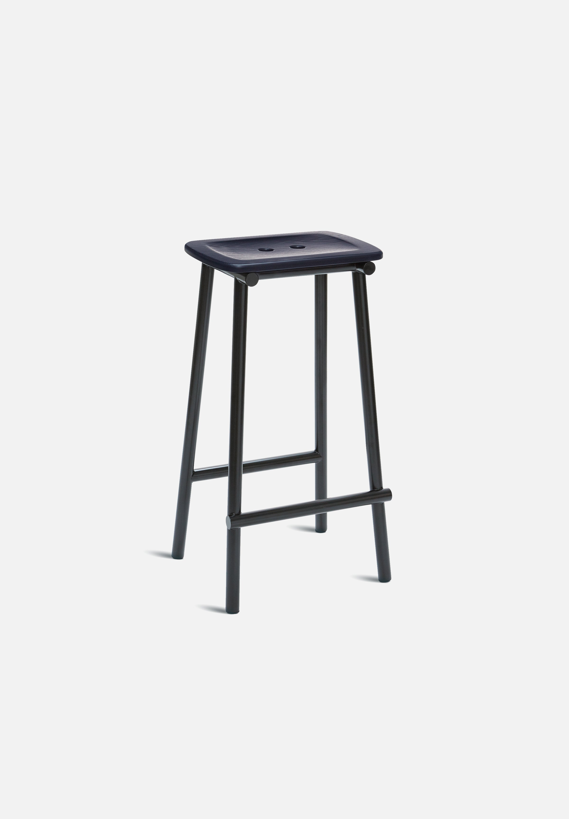 Tubby Tube Bar/Counter Stool — Navy Ash