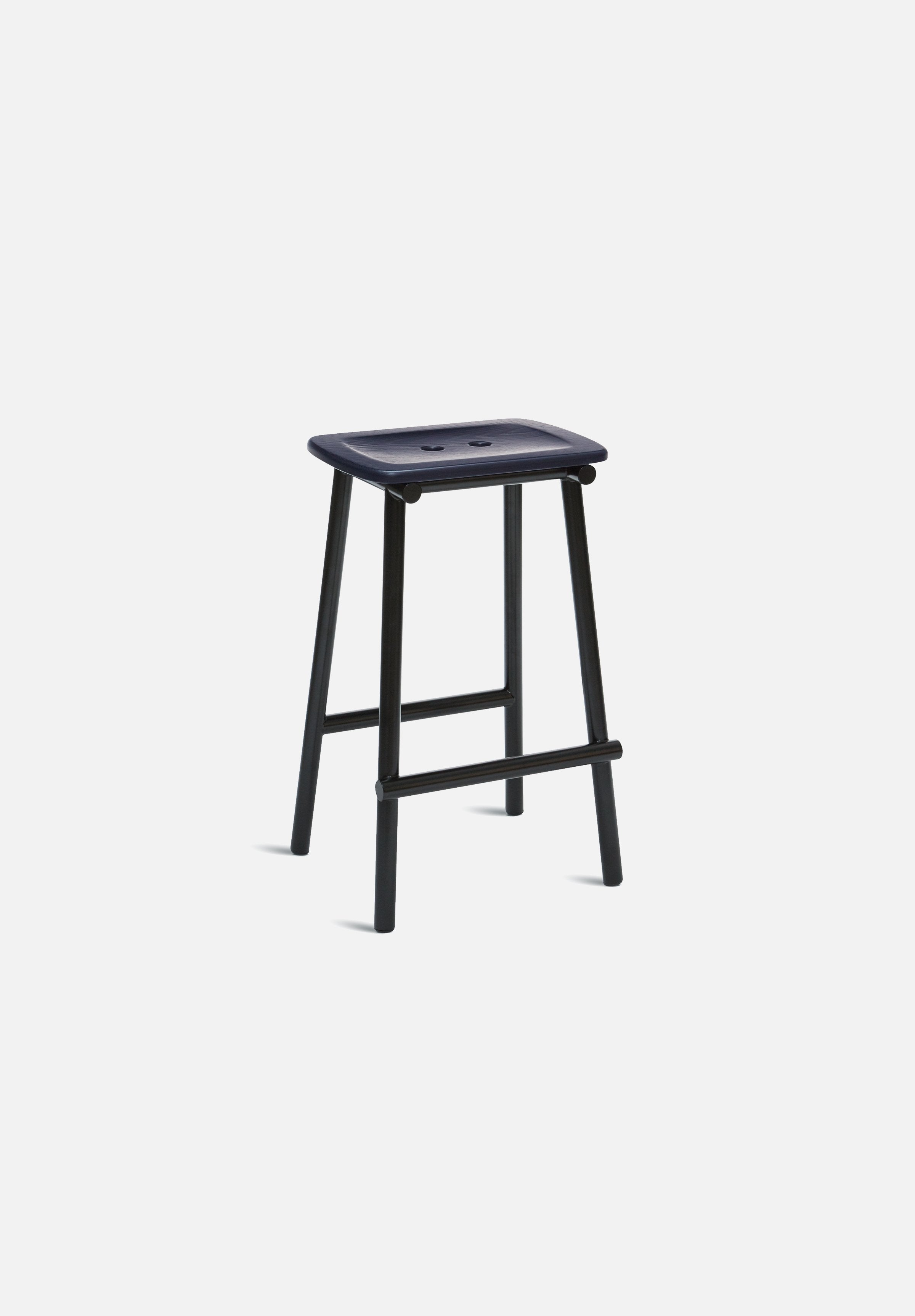 Tubby Counter Stool-Faye Toogood-Please Wait to be Seated-Painted Navy Ash-Average