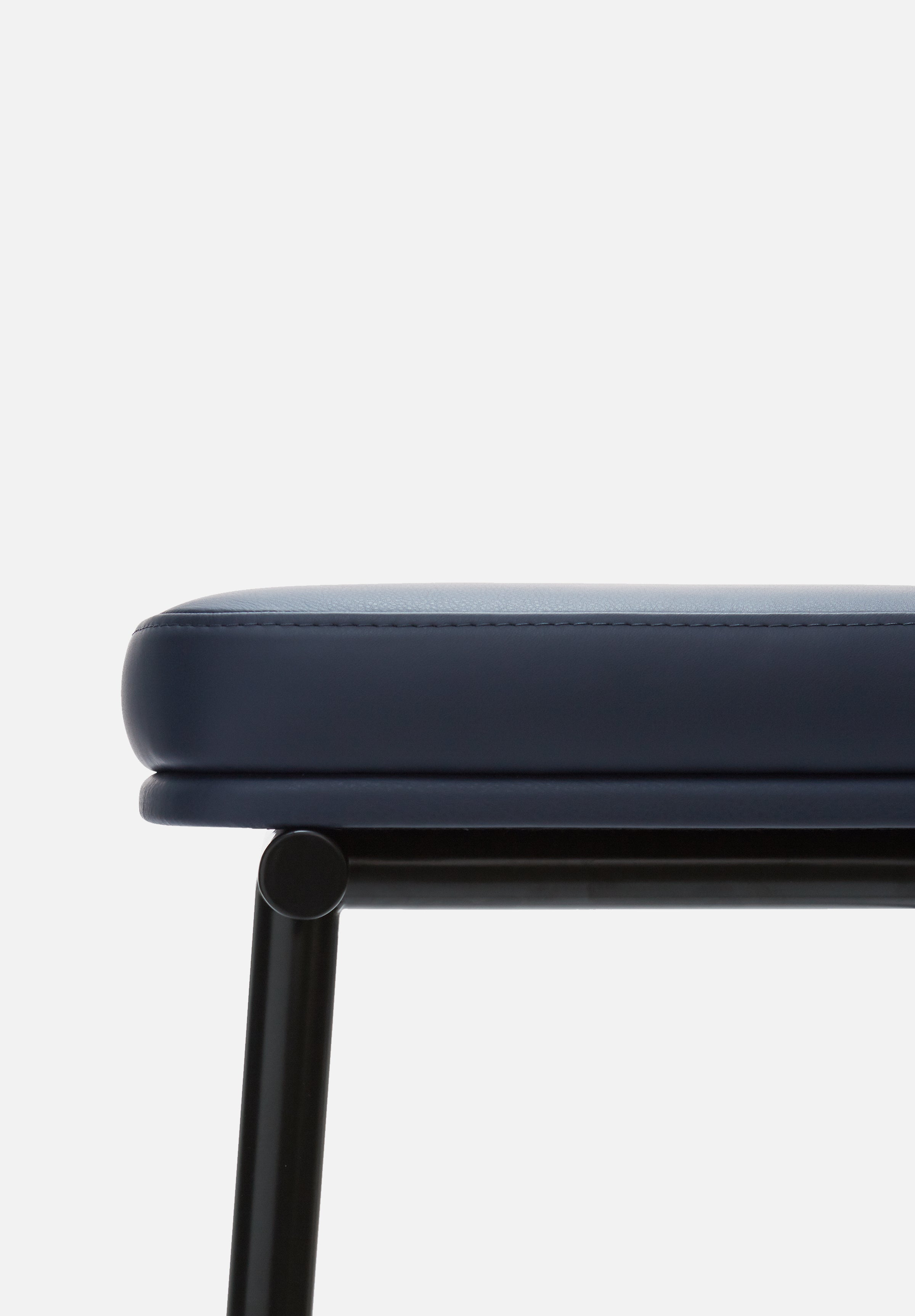 Tubby Tube Stool — Navy Leather