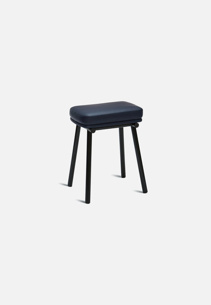 Tubby Stool-Faye Toogood-Please Wait to be Seated-Navy Leather- - Average Toronto Canada Design