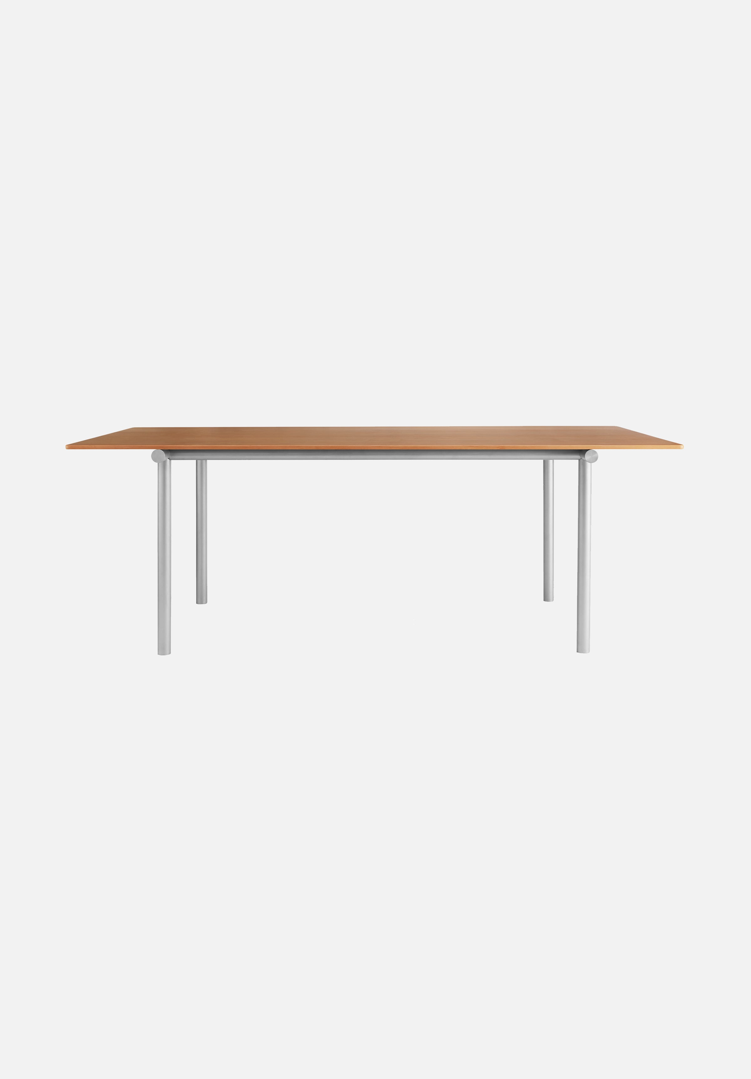 Tubby Tube Table — Oregon Pine / Aluminum