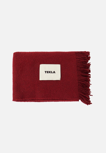 Wool Blanket — Burgundy Red-Tekla-Average