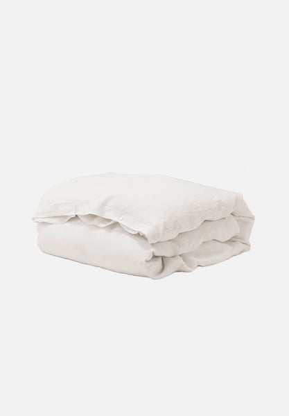 Linen Duvet Cover — Creme White-Tekla-Average
