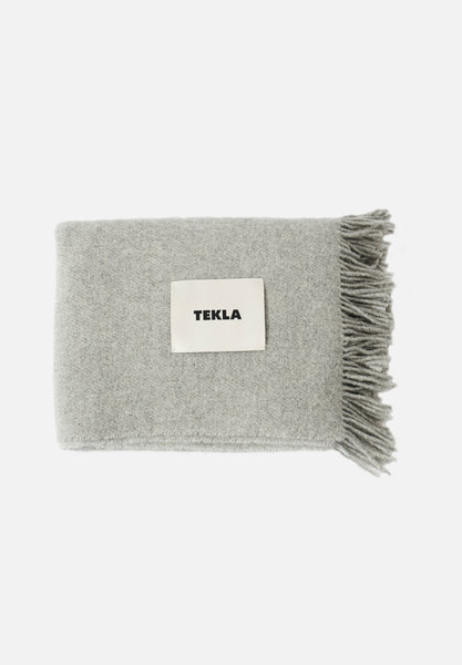 Wool Blanket — Grey Melange-Tekla-Average