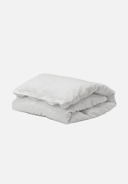 Organic Cotton Duvet Cover — Soft Grey-Tekla-Average