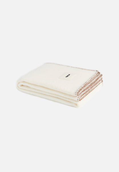 Wool Blanket — Cream White-Tekla-Average