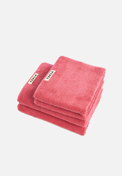 Organic Terry Towels — Goji Red-Tekla-Washcloth-Average