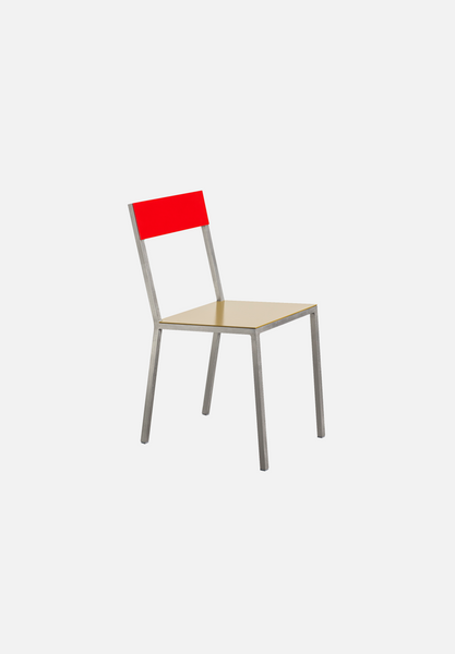 Alu Chair — Curry/Red