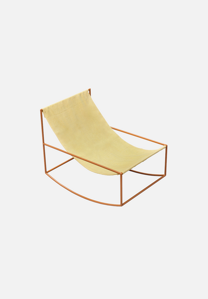 Rocking Chair — Mustard/Yellow Linen