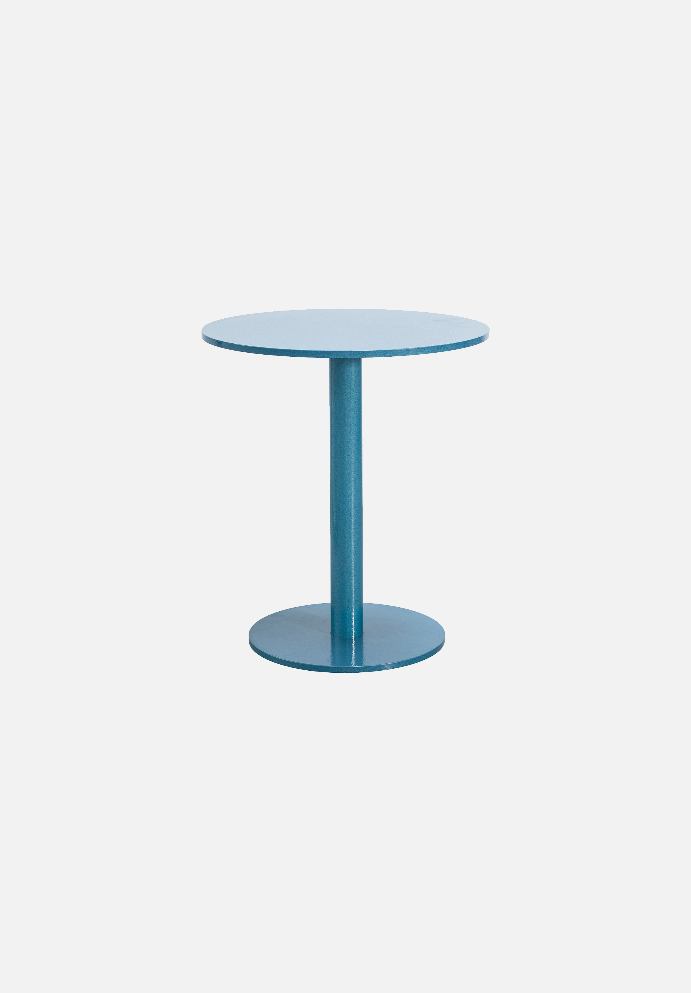Round Table S — Hammer Paint Blue