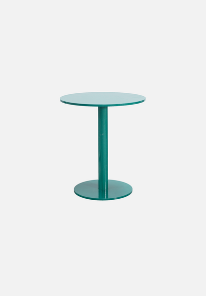 Round Table S — Hammer Paint Green