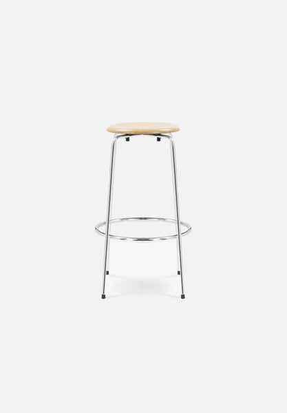 SB 38 Bar/Counter Stool — Beech-Egon Eiermann-Wilde + Spieth-Chrome Legs-Counter Height-Average