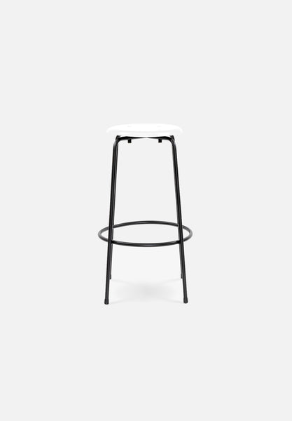 SB 38 Bar/Counter Stool — White-Egon Eiermann-Wilde + Spieth-Black Legs-Counter Height-Average