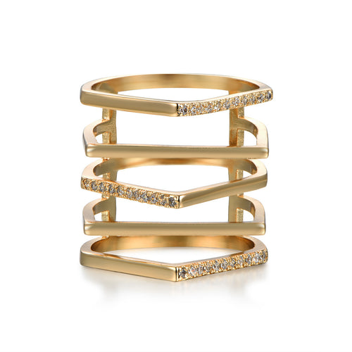 Gold Step Ring
