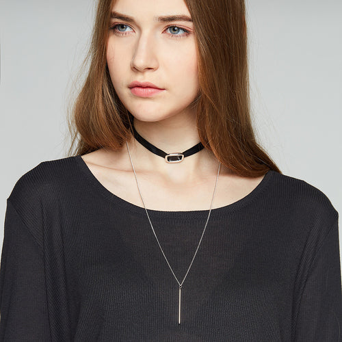 Drop Pendant Choker Necklace