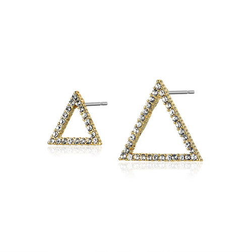 Asymmetrical Triangle Earrings