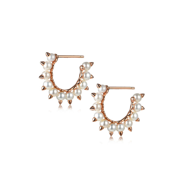 Halo Studded Hoops