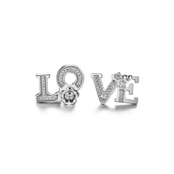 Split Love Stud Earrings