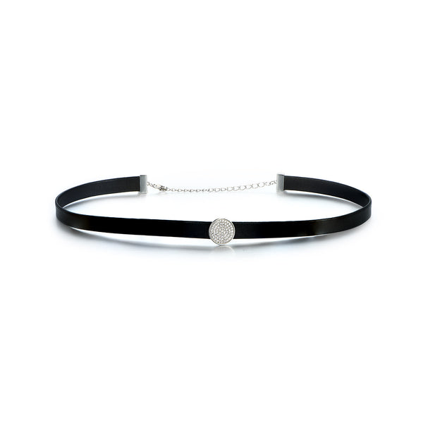 Button Black Choker