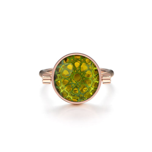 NOUSH SHIRAZ RING IN PERIDOT AND CITRINE