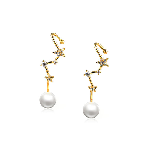 Pure White Pearl Drop Earrings