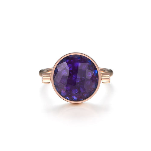 NOUSH SHIRAZ RING IN AMETHYST AND BLUE TOPAZ