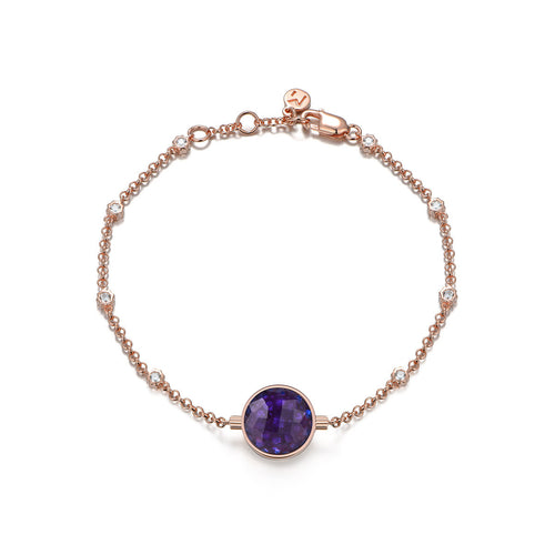 NOUSH SHIRAZ BRACELET IN AMETHYST AND BLUE TOPAZ