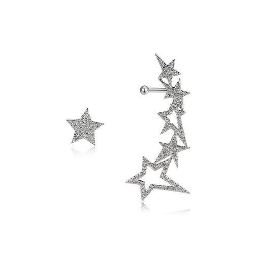 Glittering Star Stud Earrings