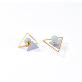 Simple Geometric Stud Earrings