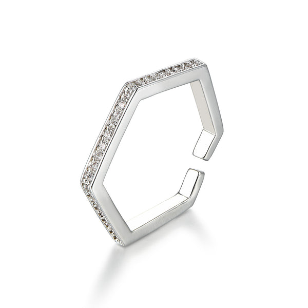 Modern Hexagon Ring