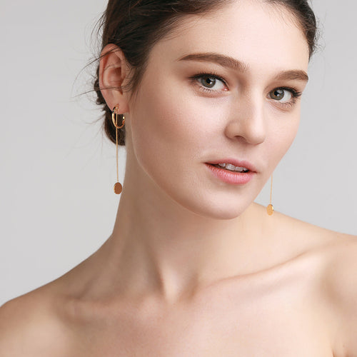 Solid Coin Earrings