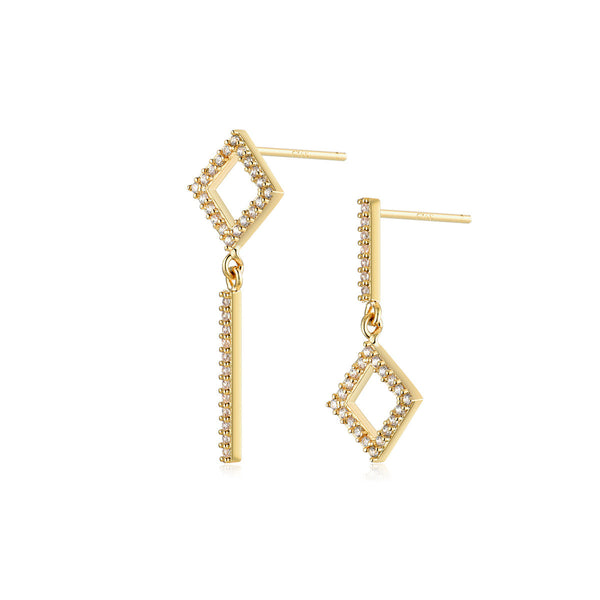 Square World Earrings