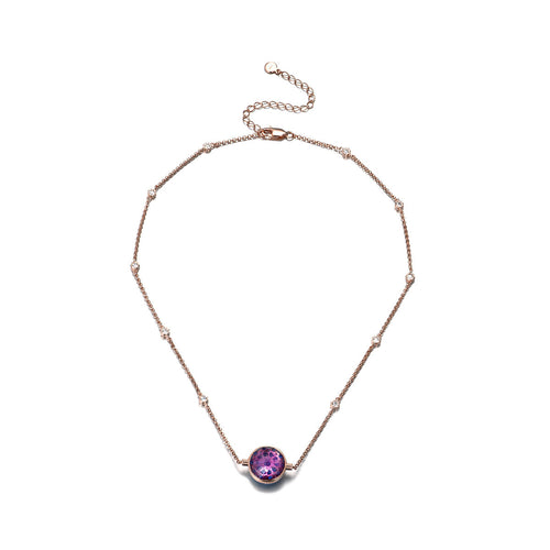 NOUSH SHIRAZ NECKLACE IN AMETHYST AND BLUE TOPAZ