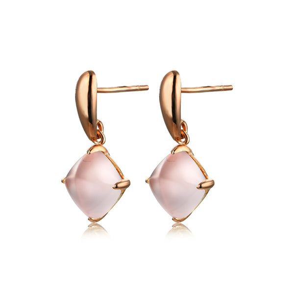 Pink Droplet Earrings