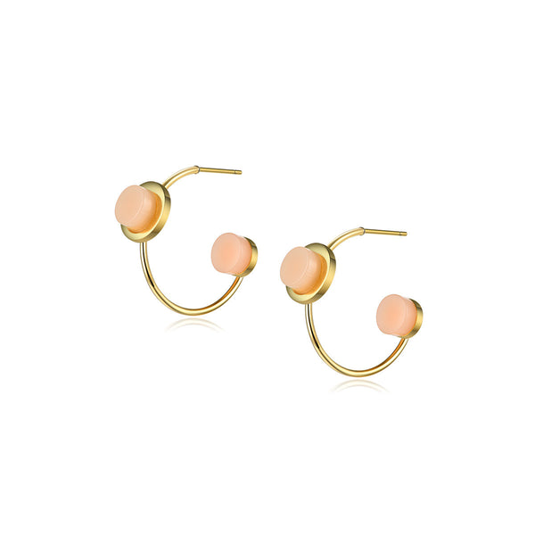 Peach Hoop Earrings