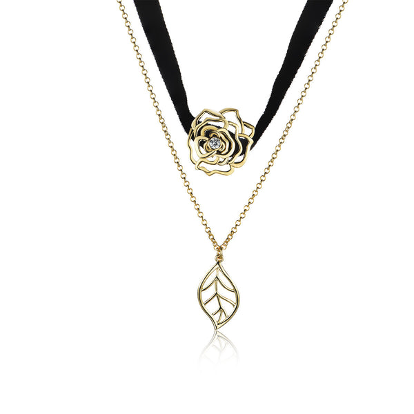 Leaf 'N' Rose Choker