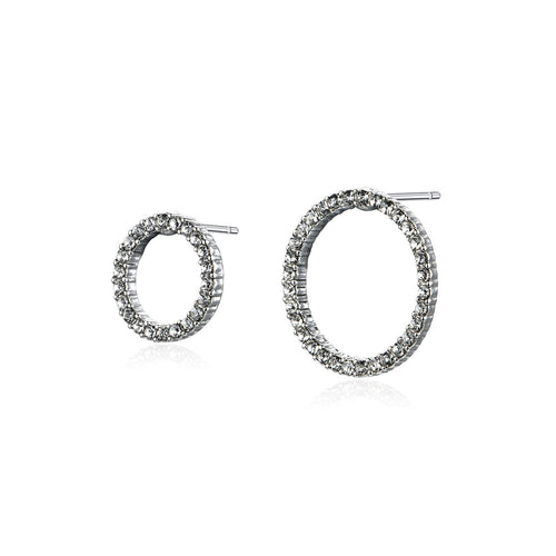 Asymmetrical Circle Earrings